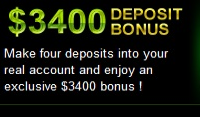 $3400 Welcome Bonus at Gibson Casino