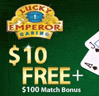 No Deposit Bonus of $10 at Lucky Emperor Casino